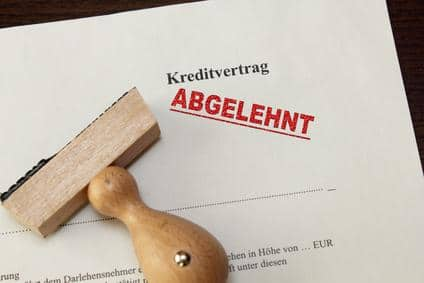 Kreditvertrag abgelehnt - was nun?