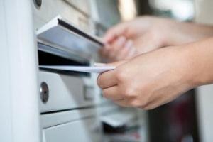 Unterlagen per Post einreichen